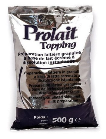 Oferta de Lapte si inalbitor cafea Ristora Topping Prolait -lapte instant granulat - 500 g